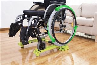 轮椅骑行台(苹果绿)-2018中国国际福祉博览会暨中国国际康复博览会